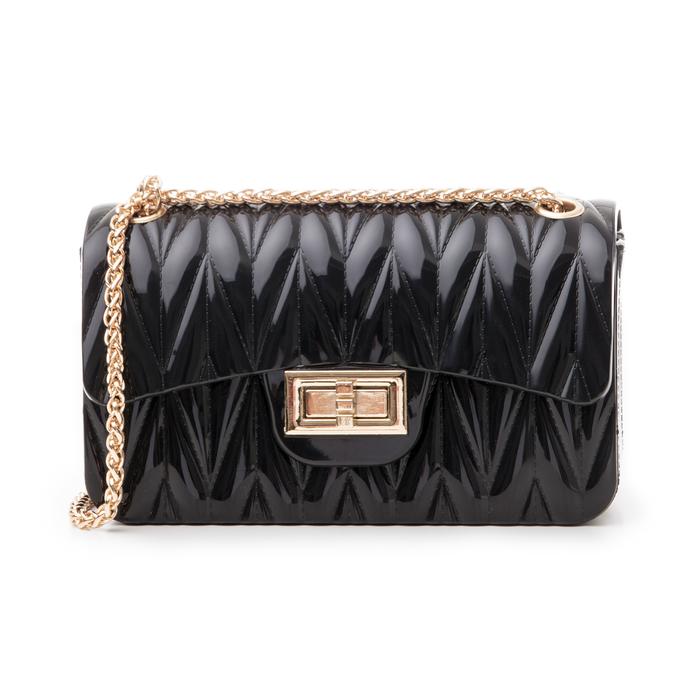 Mini-bag nera in pvc, Saldi Estivi, 137409999PVNEROUNI