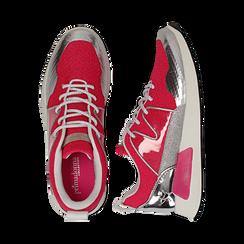 Sneakers fucsia in tessuto tecnico , Scarpe, 132619190TSFUCS037, 003 preview