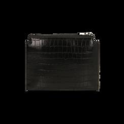 Bustina nera con stampa cocco, IDEE REGALO, 165122634CCNEROUNI, 003 preview