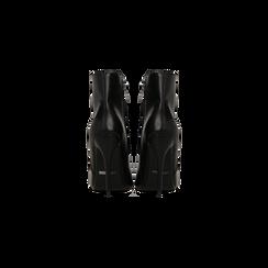 Tronchetti neri, tacco stiletto 10,5 cm, Scarpe, 124895652EPNERO, 003 preview