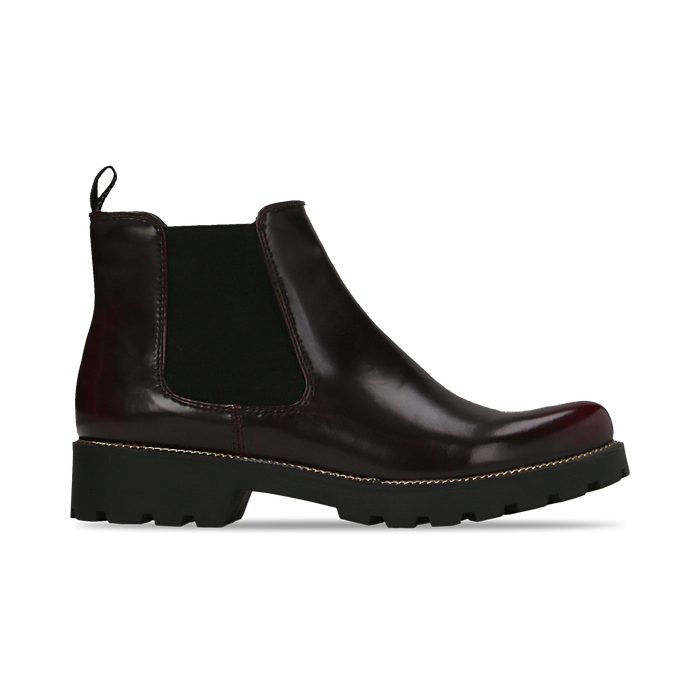 Chelsea Boots bordeaux, punta tonda, Scarpe, 120608573ABBORD