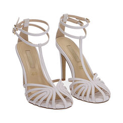 Sandali bianchi, tacco 10 cm , Primadonna, 172174211EPBIAN036, 002 preview