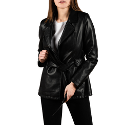 Chaqueta en eco-piel color negro , Primadonna, 156501906EPNEROM, 001 preview