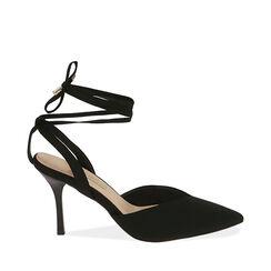 Sandalias negras, tacón 10 cm, Primadonna, 172106281LYNERO036, 001a