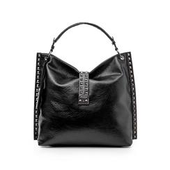 Maxi bag nera in laminato , Borse, 142409318LMNEROUNI, 001 preview