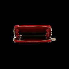 Portafoglio rosso in ecopelle vernice , Saldi, 122200896VEROSSUNI, 004 preview