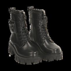 Botas militares en color negro, Primadonna, 160611112EPNERO035, 002 preview