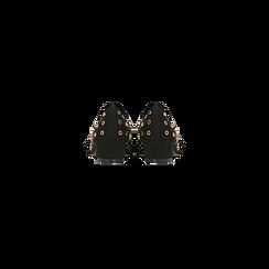 Décolleté a mocassino nere con borchiette, tacco 3 cm, Primadonna, 124952202MFNERO, 003 preview
