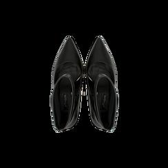 Décolleté nere con gambale, tacco 10,5 cm, Primadonna, 122186721EPNERO035, 004 preview