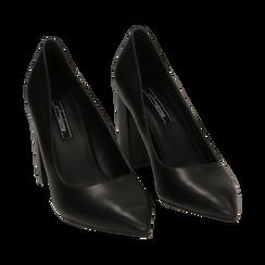 Décolleté nere, tacco 9 cm , Primadonna, 162183311EPNERO036, 002 preview