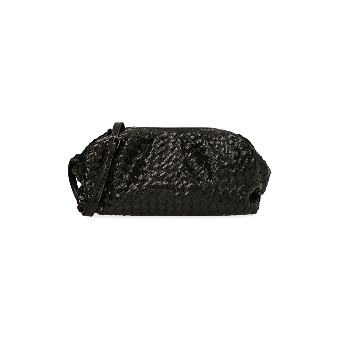 Maxi clutch nera intrecciata, GIFT IDEAS, 165122668EINEROUNI