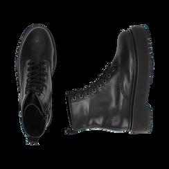 Botas militares de piel en color negro, Primadonna, 167728502PENERO040, 003 preview