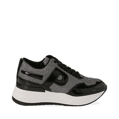 Sneakers canna di fucile glitter, suola 5,50 cm , Scarpe, 142898982GLCANN035, 001a