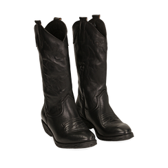 Camperos neri in pelle di vitello, Primadonna, 148900200VINERO035, 002a