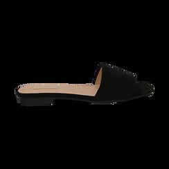 Mules flat nere in microfibra, Primadonna, 132708189MFNERO, 001 preview