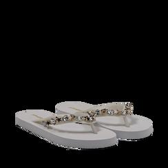 Zeppe infradito bianche in pvc, Primadonna, 13C119508PVBIAN036, 002a