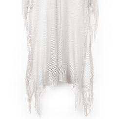 Poncho argento in tessuto laminato , Abbigliamento, 13B445079LMARGEUNI, 002 preview