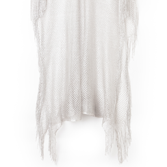 Poncho argento in tessuto laminato , Abbigliamento, 13B445079LMARGEUNI, 002a