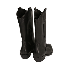 Camperos neri in pelle, tacco 4 cm , Primadonna, 168900060PENERO036, 003 preview