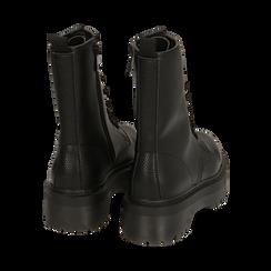 Botas militares en color negro con procesamiento caído, Primadonna, 162831293ELNERO035, 004 preview