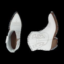 Camperas en piel color blanco, tacón 4 cm, Primadonna, 157732901PEBIAN036, 003 preview