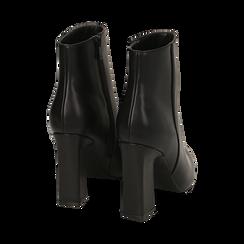 Ankle boots neri, tacco 10 cm , Primadonna, 164822754EPNERO035, 004 preview