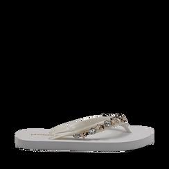Zeppe infradito bianche in pvc, Primadonna, 13C119508PVBIAN036, 001a