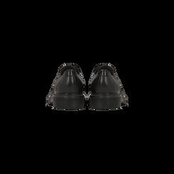 Brogues stringate stile Mannish nere in vera pelle, Primadonna, 127708061VINERO, 003 preview