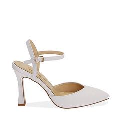 Destalonados blancos, tacón 10 cm, Primadonna, 172106273EPBIAN036, 001a