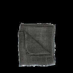 Pashmina grigia in tessuto , Abbigliamento, 14B404026TSGRIG3XL, 001a