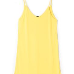 Mini-dress giallo con scollo a V,