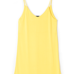 Mini-dress giallo con scollo a V, Primadonna, 13F753052TSGIALL, 002a
