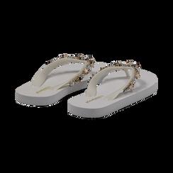 Zeppe infradito bianche in pvc, Primadonna, 13C119508PVBIAN035, 004 preview