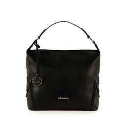 Maxi bag nera in eco-pelle, Primadonna, 153783218EPNEROUNI, 001a