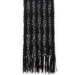 Mini-dress nero con lavorazione macramè, Primadonna, 13A345074TSNEROUNI, 002a