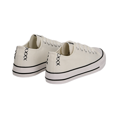 Sneakers bianche in canvas, Scarpe, 137300862CABIAN036, 004 preview