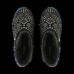Scarponcini invernali neri con mini borchie, Primadonna, 12A880115MFNERO, 004 preview