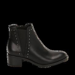 Botines Chelsea en color negro, tacón 5 cm , Primadonna, 160621232EPNERO035, 001a