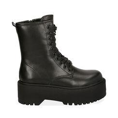 Bottines noir, platform 5,5 cm , Primadonna, 160622251EPNERO036, 001a