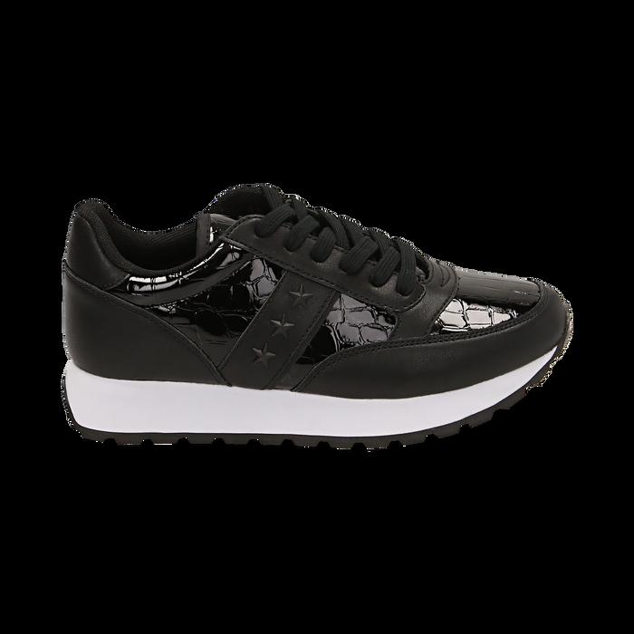 Sneakers nere in vernice, Primadonna, 162619079VENERO036
