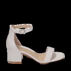 Sandalias en eco-piel color blanco, tacón 5,50 cm, 152707031EPBIAN035, 001a