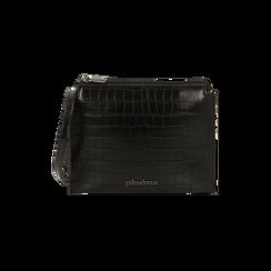 Bustina nera con stampa cocco, IDEE REGALO, 165122634CCNEROUNI, 001 preview