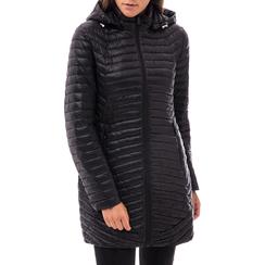 Piumino con cappuccio nero in tessuto , Abbigliamento, 148500502TSNERO3XL, 001a