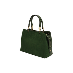 Borsa media verde in microfibra, Primadonna, 16D971608MFVERDUNI, 002 preview