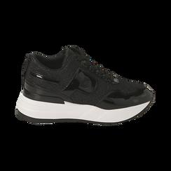 Sneakers nere glitter, suola 5,50 cm , Scarpe, 142898982GLNERO035, 001 preview