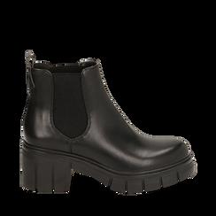 Botines Chelsea en color negro, tacón 5 cm , Primadonna, 160621171EPNERO035, 001a
