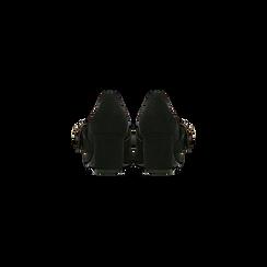 Décolleté nere con maxi-fibbia e boules, tacco 6,5 cm, Scarpe, 122196695MFNERO, 003 preview