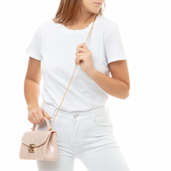Mini-bag matelassé nude in pvc, Primadonna, 137402298PVNUDEUNI, 002 preview