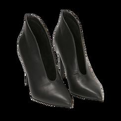 Ankle boots neri, tacco 10,50 cm , Primadonna, 162123746EPNERO036, 002a