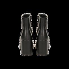 Tronchetti neri, tacco medio 5 cm, Scarpe, 122762715EPNERO, 003 preview